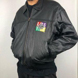 🎲🎲 Vintage Official All-Star Cafe Leather Jacket